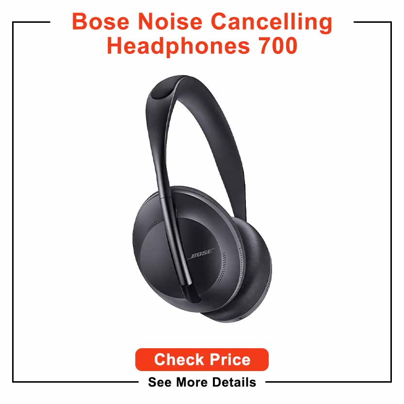 Bose Noise Cancelling Headphones 700, Bluetooth, Over-Ear Wireless Headphones with Built-In Microphone for Clear Calls & Alexa Voice Control, Black