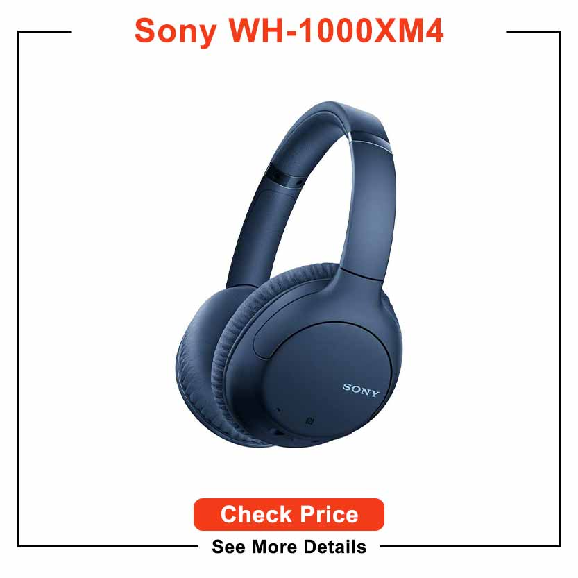Sony Noise Cancelling Headphones WHCH710N: Wireless Bluetooth Over the Ear Headset with Mic for Phone-Call, Blue (Amazon Exclusive)