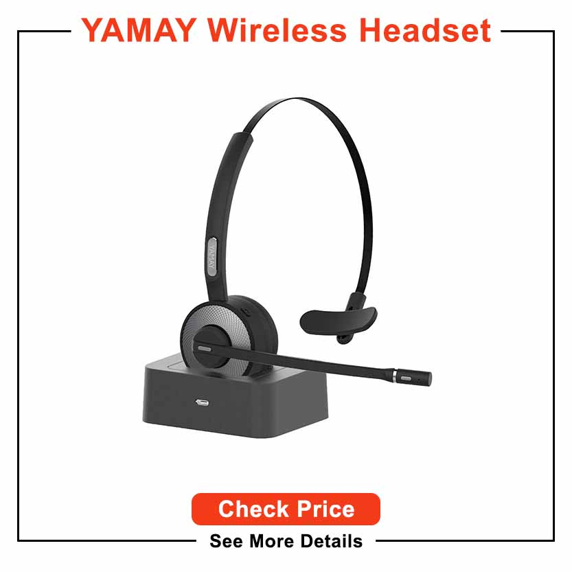 Best noise cancelling headset for work - YAMAY Wireless Headset