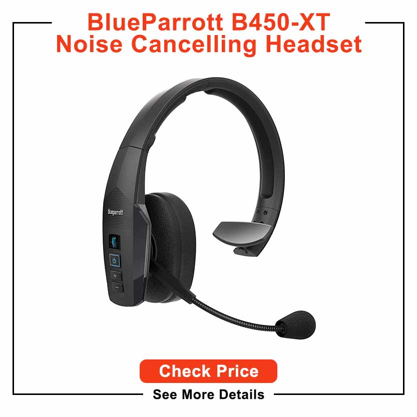 Bluetooth Headset, YAMAY Wireless Headset with Microphone (Noise Cancelling Mic) Charging Base Mute Button 19H Clear Talk Time Pro for Truck Driver Office