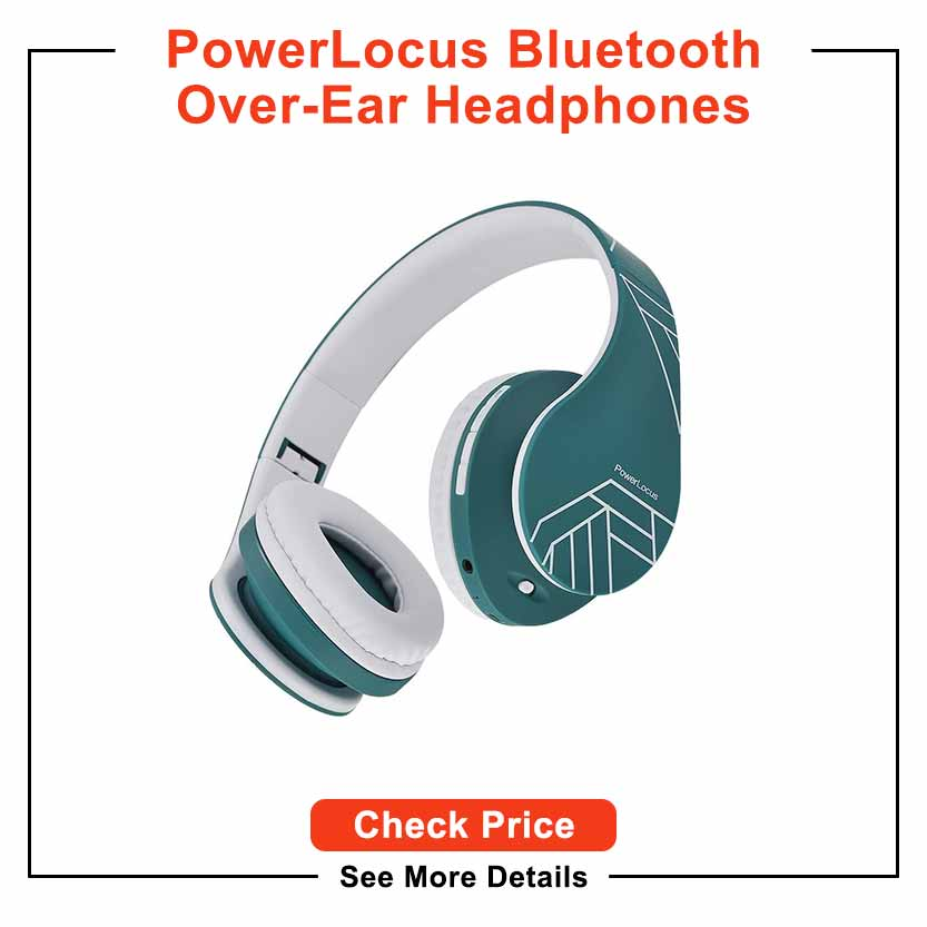 PowerLocus Bluetooth Over-Ear Headphones, Wireless Stereo Foldable Headphones Wireless and Wired Headsets with Built-in Mic, Micro SD/TF, FM for