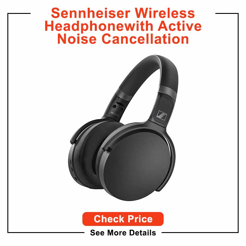 SENNHEISER HD 450BT Bluetooth 5.0 Wireless Headphone with Active Noise Cancellation - 30-Hour Battery Life, USB-C Fast Charging, Virtual Assistant Button