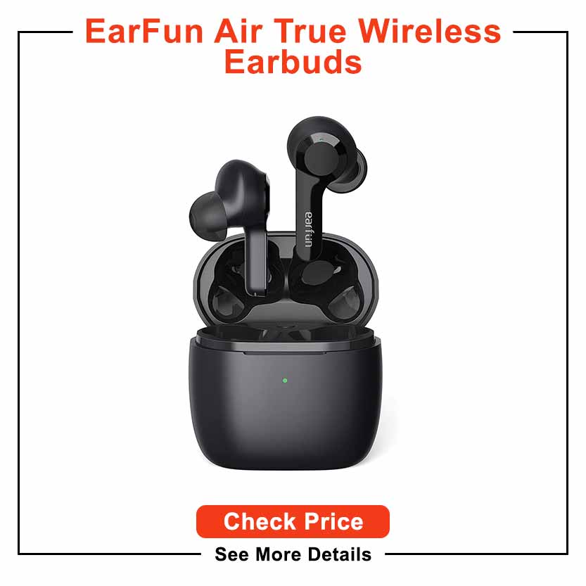 EarFun Air True Wireless Earbuds with 4 Mics, Bluetooth 5.0 Earbuds Touch Control, USB-C Quick Charge with Wireless Charging, Deep Bass, in-Ear Detection