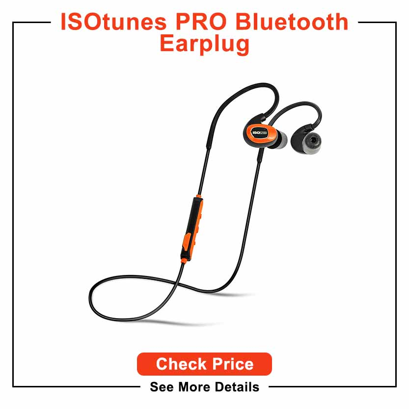 ISOtunes PRO Bluetooth Earplug Headphones, 27 dB Noise Reduction Rating, 10 Hour Battery, Noise Cancelling Mic, OSHA Compliant Bluetooth Hearing Protector