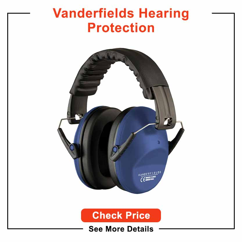 Vanderfields Hearing Protection for Shooting –Compact Foldable Portable Earmuffs